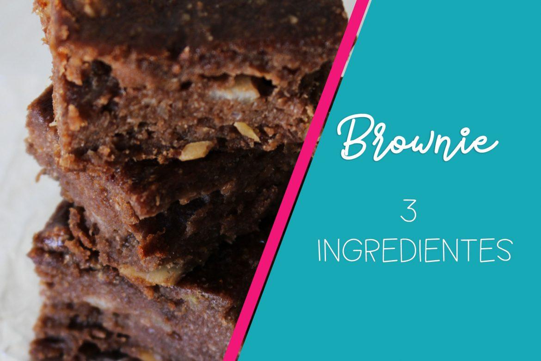 Brownie Fit – Sem farinha, sem glúten e Vegano! Apenas 3 Ingredientes!